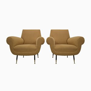Italian Lounge Chairs by Gigi Radice for Minotti, 1954, Set of 2