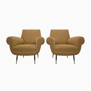 Italienische Sessel von Gigi Radice für Minotti, 1954, 2er Set