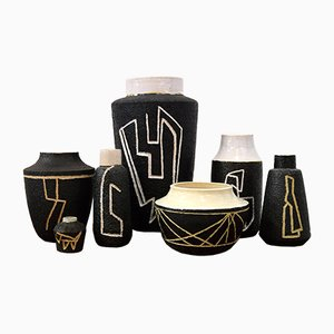 Sgraffito Vases by Pieter Groeneveldt, 1950s, Set of 20