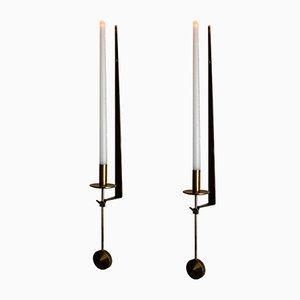 Vintage Kerzenhalter von Pierre Forssell für Skultuna, 2er Set