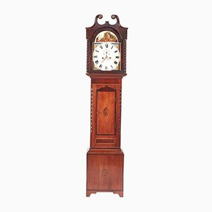 Oak and Mahogany Inlaid 8-Day Grandfather Clock, 1810s