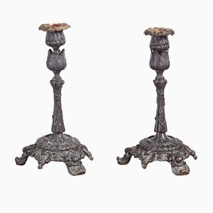 Bronze Candlesticks, 1825, Set of 2