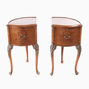 Birdseye Maple Bedside Cabinets, 1920s, Set of 2