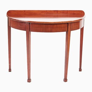 George III Mahogany Demi-Lune Console Table