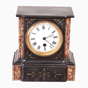 Small Victorian Marble Mantel Clock, 1880s