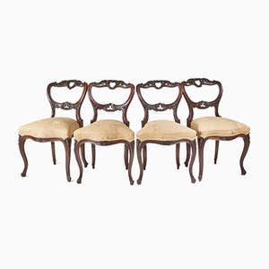 Victorian Rosewood Dining Chairs, 1850s, Set of 4
