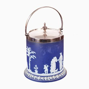 Jasperware Biscuit Barrel from Wedgwood, 1890s