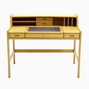 Solid Oak Flip Top Desk from Dyrlund, 1970s