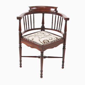 Edwardian Mahogany Inlaid Corner Chair