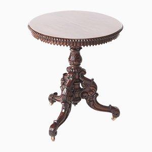 Table Basse Victorienne en Palissandre Sculpté