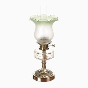 Victorian Brass Oil Lamp, 1880s