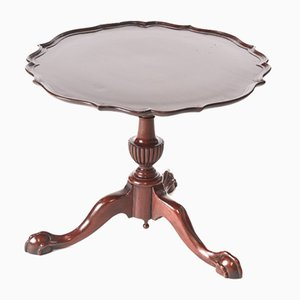 Vintage Mahogany Table with Pie Crust Top, 1920s