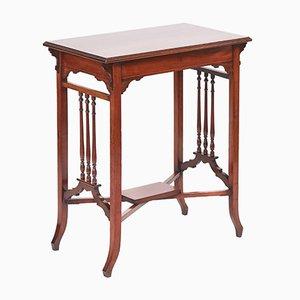 Tavolino edoardiano in mogano intarsiato