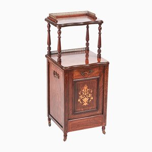 Antique Edwardian Rosewood Coal Purdonium