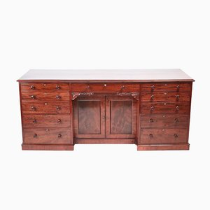 Grand Bureau William IV Antique en Acajou