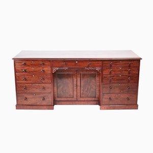 Großer antiker William IV Schreibtisch aus Mahagoni