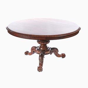 Round Antique William IV Rosewood Centre Table