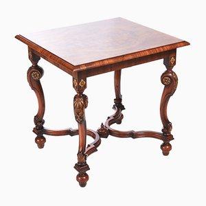 Tavolo antico in radica di noce, inizio XX secolo