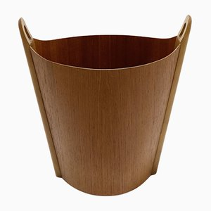Teak Waste Paper Bin by Einar Barns for PS Heggen, 1950s