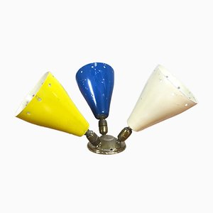 Lámpara de pared italiana vintage, años 50