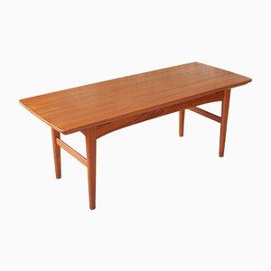 Table à Rallonge et Hauteur Ajustable Mid-Century en Teck, 1960s