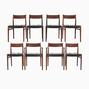 Model 418 Dining Chairs by Arne Vodder for Sibast Mobler, 1965, Set of 8