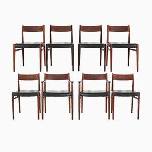 Modell 418 Esszimmerstühle von Arne Vodder für Sibast Mobler, 1965, 8er Set