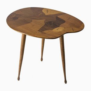 Vintage Swedish Side Table with Inlays, 1950s