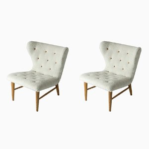 Vintage Lounge Chairs by Eric Karlén, 1940s, Set of 2