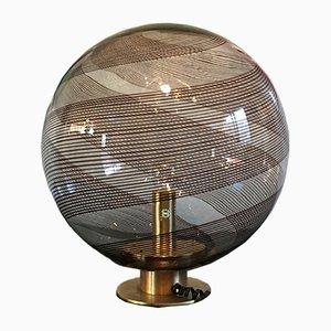 Lámpara de mesa grande con estampado en espiral de Paolo Venini, años 60
