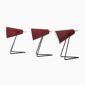 Lámparas de mesa vintage de Svend Aage Holm Sørensen para ASEA. Juego de 3