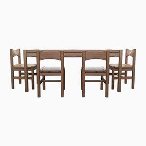 Tavolo da pranzo Hongisto vintage con quattro sedie di Ilmari Tapiovaara per Laukaan Puu