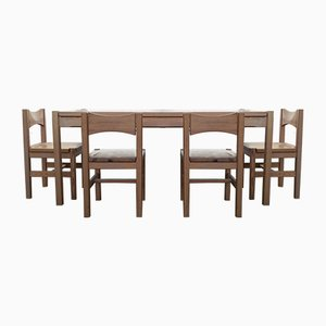 Vintage Hongisto Dining Table & 4 Chairs by Ilmari Tapiovaara for Laukaan Puu