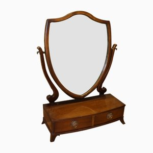 Mahogany Swing Mirror on Stand, 1940s