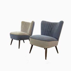 Mid-Century Cocktailstühle, 1960er, 2er Set