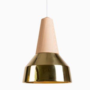 Lampada Eikon Ray in ottone e frassino di Schneid Studio
