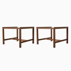 Tables d'Appoint en Teck par Karl-Erik Ekselius pour Joc Vetland, 1960s, Set de 2