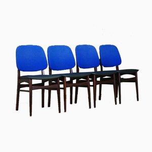 Dänische Vintage Stühle aus Mahagoni, 4er Set