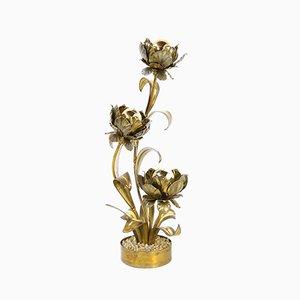 Lampada da terra vintage floreale di Maison Jansen
