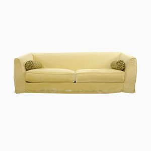Italian Model Gustavo Yellow Velvet Sofa from Promemoria, 1990s