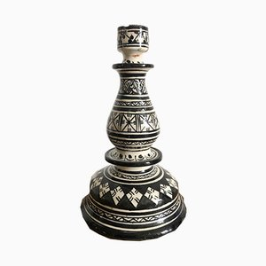 Handgefertigter Vintage Kerzenhalter aus Keramik