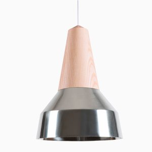 Eikon Ray Chrome & Ash Pendant Lamp from Schneid Studio