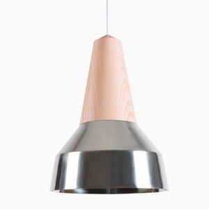 Lampe à Suspension Eikon Ray en Chrome et Frêne de Schneid Studio