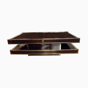 Tavolino da caffè e mobile bar in radica d'olmo di Willy Riz per Roche Bobois, anni '70