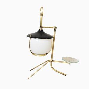 Brass Lantern Table Lamp, 1950s