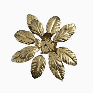 Italian Flower Wall Lamp, 1970s