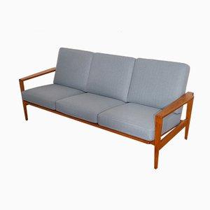 Skandinavisches Vintage Sofa mit Gestell aus Eiche von Erik Wørts