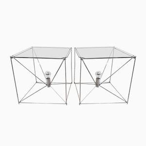 Tables Basses Cubiques Illuminées par Kim Moltzer, 1970s, Set de 2