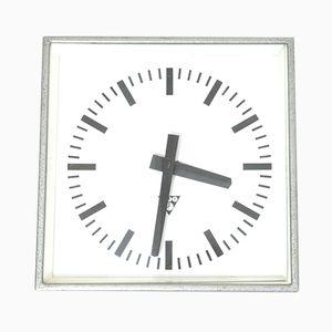 Reloj de pared checo industrial vintage de Pragotron
