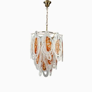 Italian Murano Glass and Metal Chandelier, 1960s